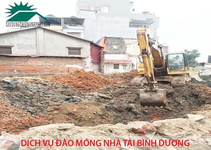 Dịch vụ đào móng nhà tại Bình Dương