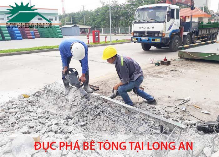 Đục phá bê tông tại Long An
